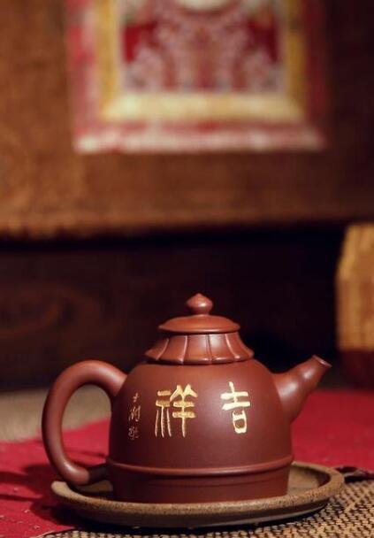 谈跃伟紫砂壶作品《佛顶壶》