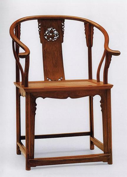 黄花梨透雕麒麟纹圈椅,王世襄旧藏,上海博物馆典藏