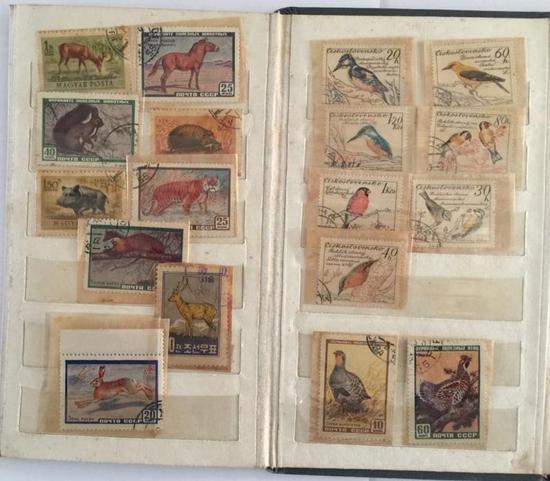 作者所藏部分外国动物邮票