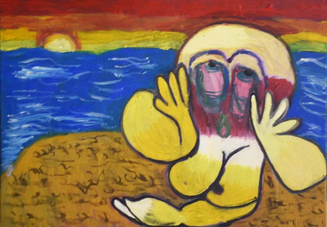 胡琪琪 面对太阳 50x60cm 布面油画 2016