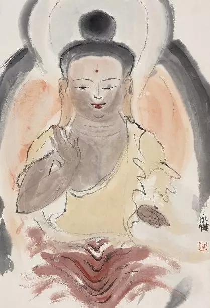 佛,纸本水墨,24x35cm,2019