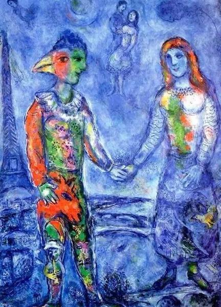 1948 Couple in Blue 蓝色的情侣