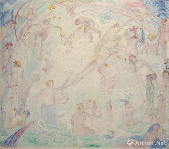 拍品编号121 詹姆斯·恩索尔 (1860-1949) 《婀娜多姿的纽墨菲》