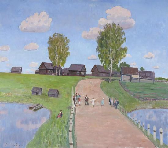 西多罗夫《节日》布面油画 93×106cm 1964