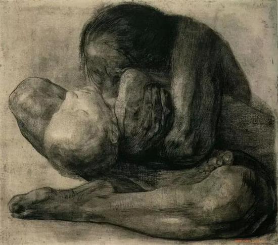 珂勒惠支 《母亲与她死去的孩子》