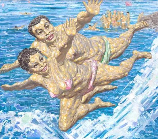 《健康的生活》 油画 刘沛沛 现收藏于重庆美术馆
