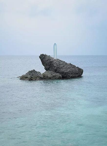 森万里子,太阳柱,户外雕塑,2011