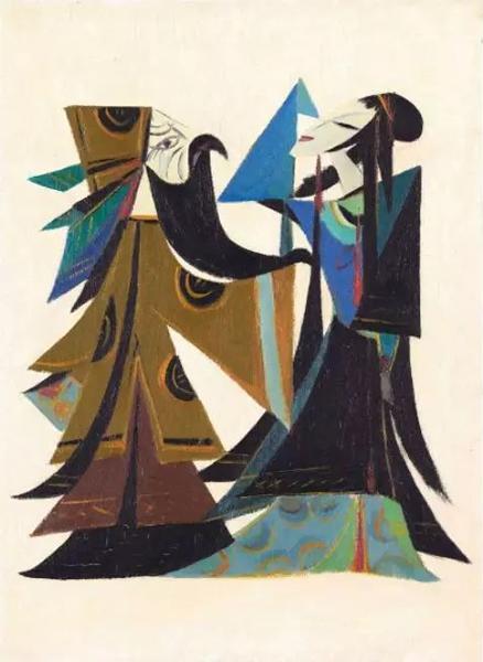 刘野《画家与模特》,估价500—800万港币,成交价1032万港币。
