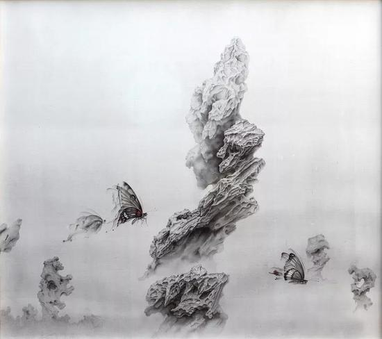 《秋分》2018年 绢本水墨 153x171cm