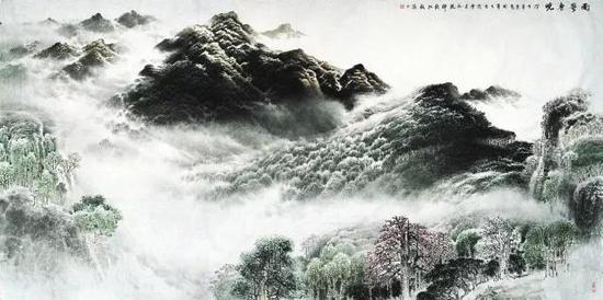 南粤春晓,许钦松,500×250cm,2008年