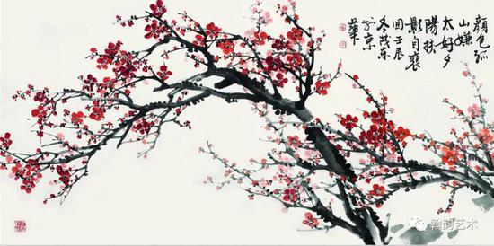 孤山之春 纸本 136x68cm