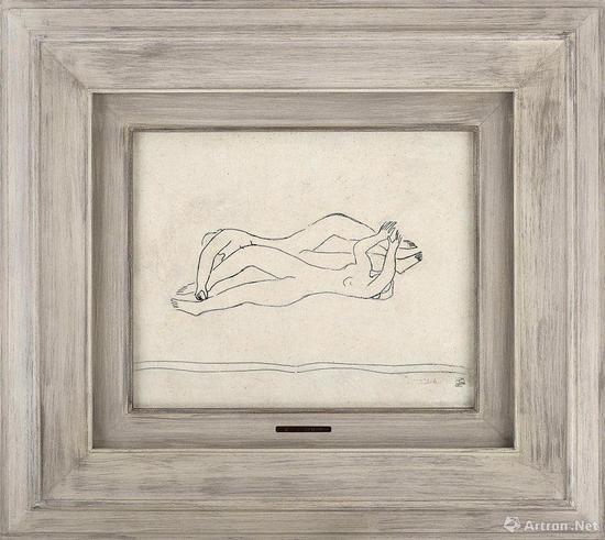 常玉现存着录作品当中惟一一幅以墨混合油彩的裸女作品《双裸女》以1840万元成交