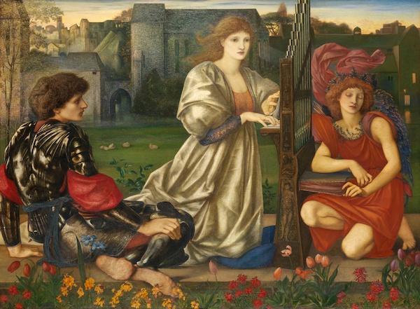 爱德华·伯恩-琼斯 《爱之歌》(Chant d' Amour,),现藏于美国纽约大都会博物馆