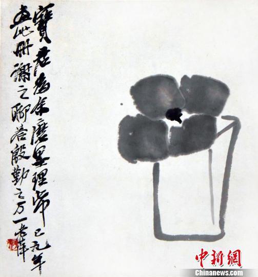 齐白石画作《送宝君图》 李自健美术馆供图