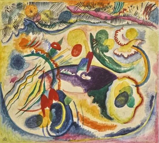 瓦西里·康定斯基(Wassily Kandinsky)《最后审判论题》,1913年作已售22,879,000美元