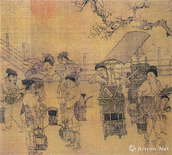 南宋 刘松年(传) 茗园赌市图 局部 台北故宫博物院藏