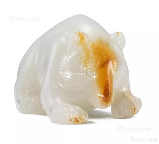 NO.14西汉 白玉雕熊