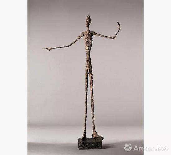 阿尔伯托?贾克梅蒂(1901~1966年)《指示者》雕塑(2015年纽约佳士得1.413亿美元成交)