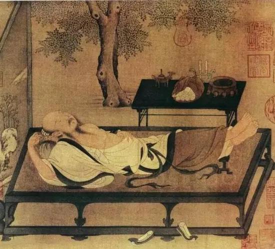 《槐荫消夏图》 宋 佚名 小品册页 纸本设色 北京故宫博物院藏