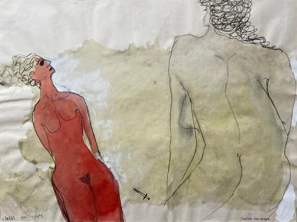 劳伦斯·费林盖蒂,《俄瑞斯忒斯与母亲》( Orestes and Mother 1981)