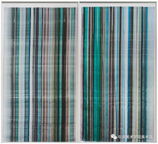 刘刚, 200x110cmx2 综合材料 2017