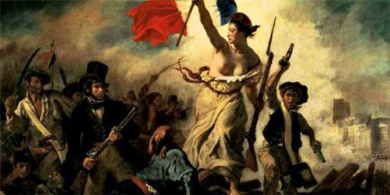 德拉克罗瓦:《自由引导人民》,1830