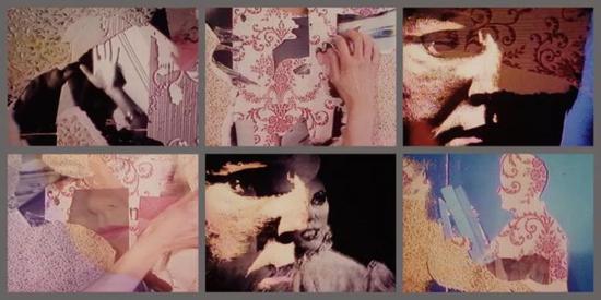 蒂娜·基恩,《暗淡的壁纸》,1988。图片致谢 England & Co Gallery