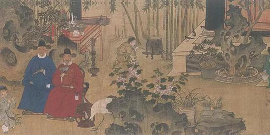吕纪、吕文英绘《竹园寿集图》局部 故宫博物院藏