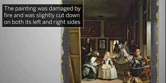 作品曾于1943年遭受祝融之灾,左右两侧稍微经过裁剪