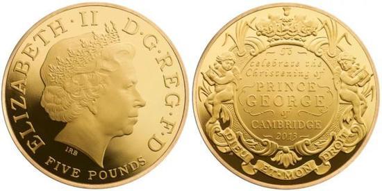 再后来,为庆祝乔治王子的第一个生日,英国皇家铸币厂又铸造了纪念银币。