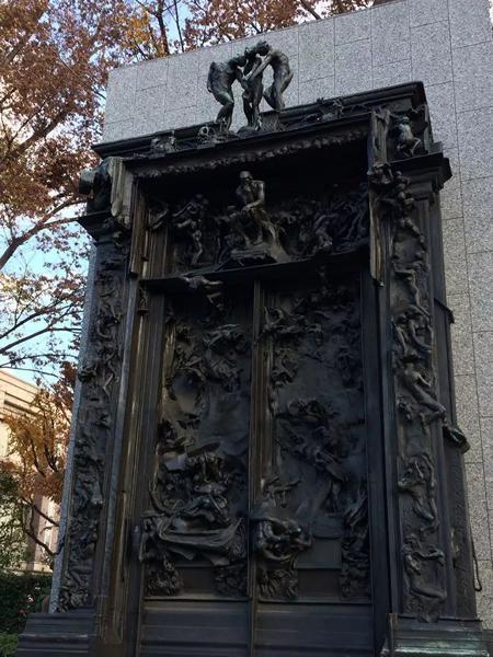 """日本国立西洋美术馆藏""""松方藏品""""之一罗丹《地狱门》"""