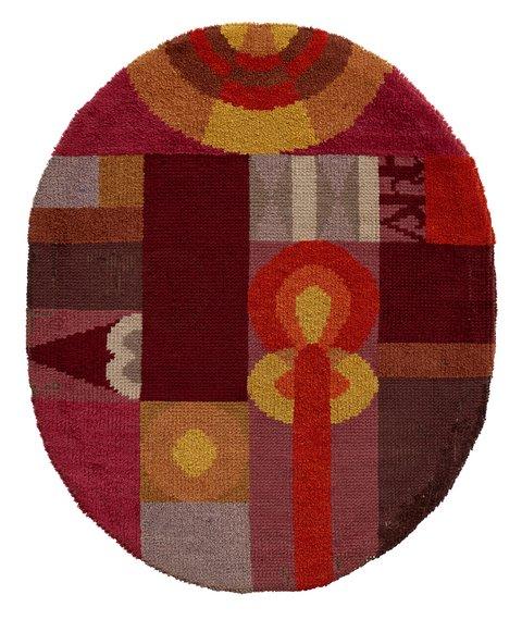 苏菲·陶柏-阿尔普,《Oval Composition With Abstract Motifs》
