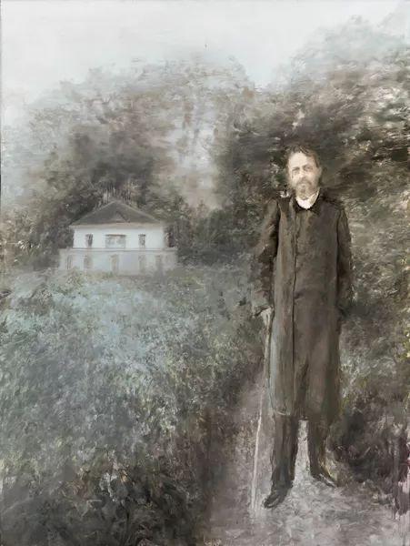《俄罗斯森林(黄金时代)契珂夫。夜莺》 2017 年 布面油画 200 x 150 cm
