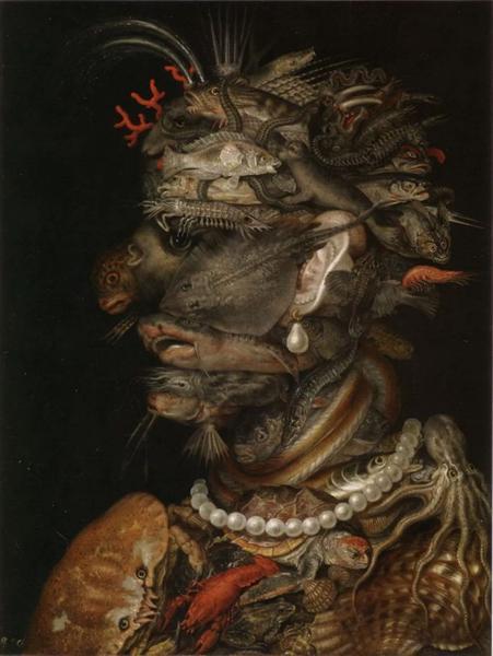 Giuseppe Arcimboldo,Water, 1566, Kunsthistorisches Museum Vienna