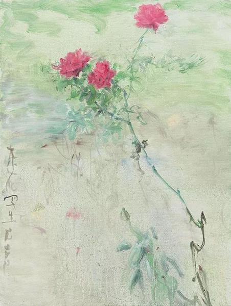 杂花写生系列,布面油画,80×60cm,2012年 2013北京匡时秋拍69万成交