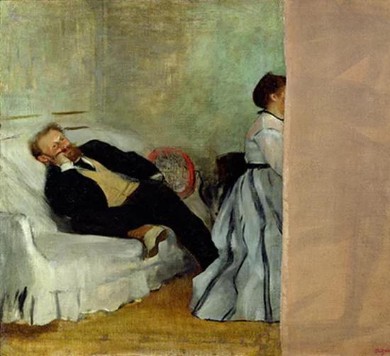 德加绘制的马奈夫妇的肖像画(1868-69)