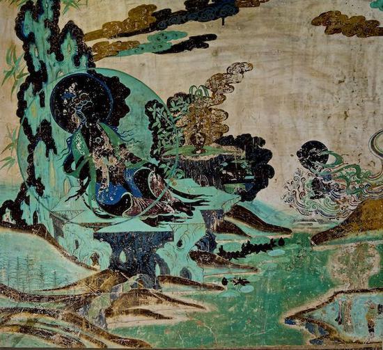 榆林窟第二窟西壁北侧水月观音图(复制品) 谢继胜拍摄