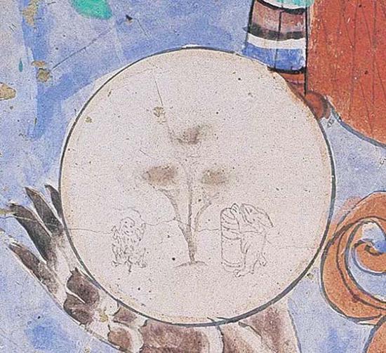 菩萨手中的月亮 莫高窟第35窟 五代