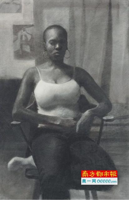 """《遮住的愁云》(2008),NjidekaAkunyiliCrosby创作,将出现在佳士得""""从战后至今""""伦敦拍卖会上。估价12万到18万英镑。"""