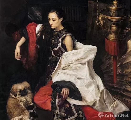 王玉琦《狗年》布面油画