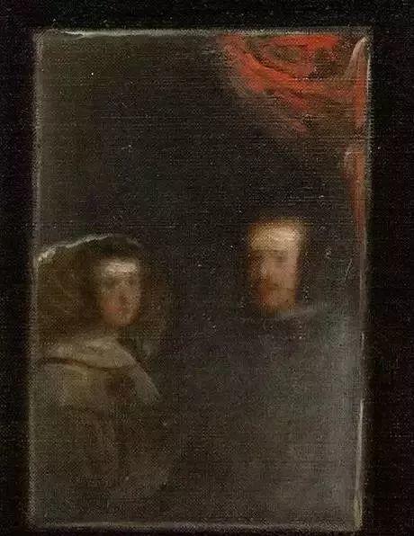 门外随从:他看到的东西要更完整一些,画家给国王夫妇作画、随从们哄公主。