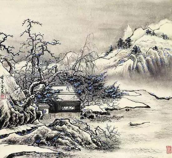 《雪霁归舟》(约19岁作)