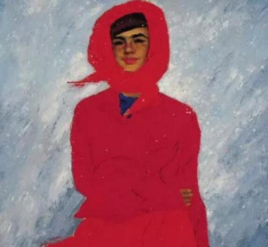 > 詹建俊油画作品《飞雪》,1981年
