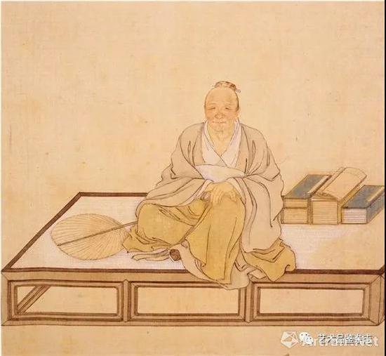■ 清 徐璋 《松江倪瓒像》 纸本 设色 29.2×31.8cm 南京博物院藏