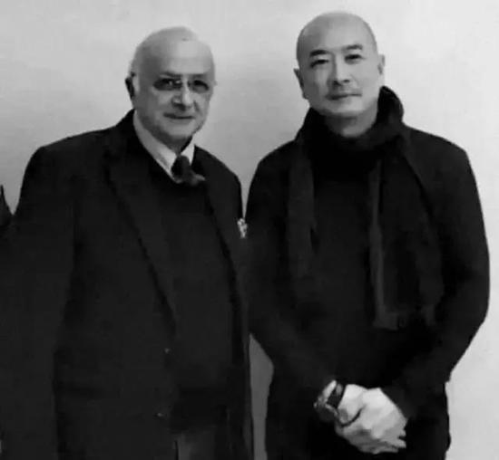 傅榆翔与桑福先生合影