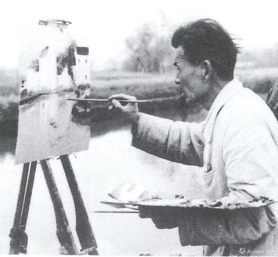 1981年 吴冠中在家乡宜兴写生