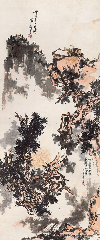 潘天寿 无限风光 成交价: RMB 287,500,000