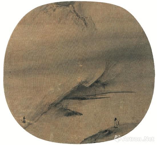 南宋 梁楷 泽畔行吟图 现藏于美国大都会艺术博物馆
