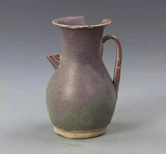 长沙窑铜红釉执壶