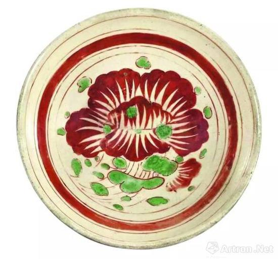 临宇山人珍藏的第一件磁州窑器物——金代磁州窑红绿彩花卉纹碗